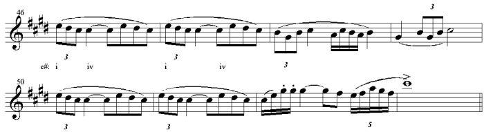 Example 3 Largo, second theme.