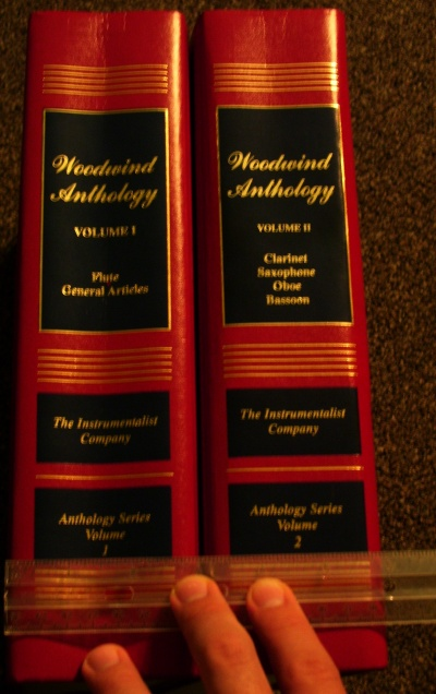 Woodwind Anthology spines