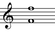First and second octave F on the oboe