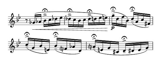 with added tenuto-accent-fermata