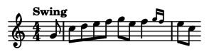 "eighth notes with ""Swing"" indication"