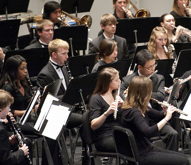 The Symphonic Wind Ensemble is the premier wind/percussion ensemble in the School of Music.  This highly select, 40-member ensemble represents the finest wind and percussion instrumentalists on campus. The ensemble will perform at this year's Penn State President's Concert at the Strathmore Music Center near Washington, D.C. The President's Concert, a joint production of the Penn State President's Office, the School of Music, and the Alumni Association, has been held at major concert venues including Heinz Hall in Pittsburgh, Kennedy Center in Washington, D.C., and the Kimmel Center in Philadelphia. Last year's concert was held in Carnegie Hall.