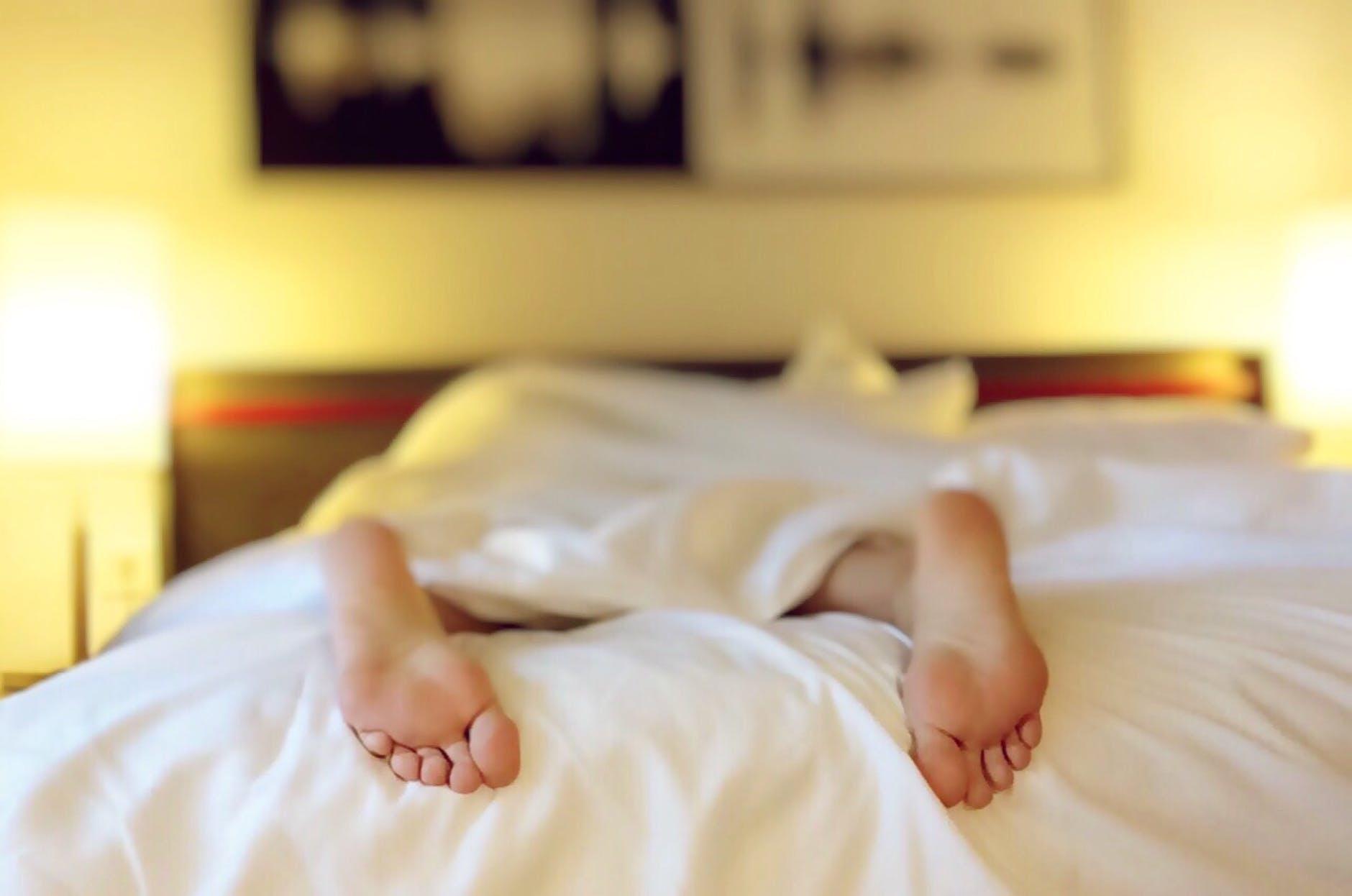 alone bed bedroom blur